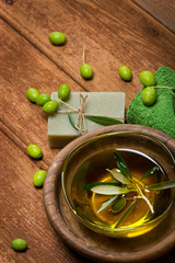 Olive oil and spa item