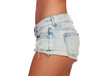 canvas print picture - Sexy woman body in jean shorts