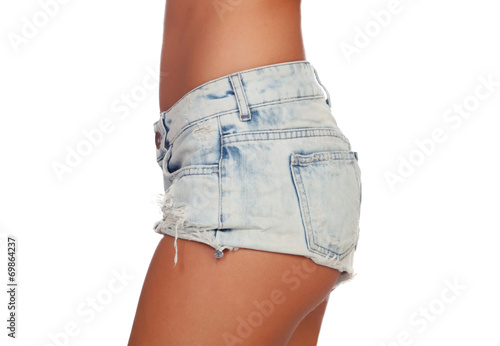 canvas print picture Sexy woman body in jean shorts
