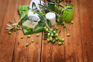 Natural spa organic olive products