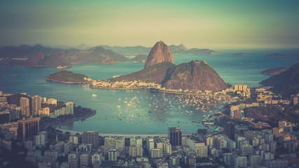 Sunset over Rio de Janeiro panning Time Lapse, Brazil