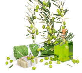Green olives for spa