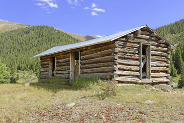 Log Cabin in Mining Town, Western USA