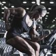 canvas print picture - Woman bodybuilder