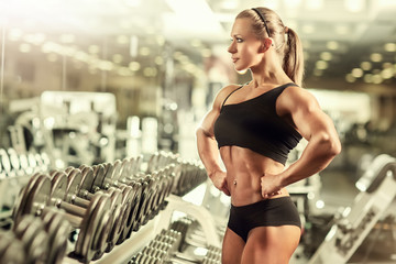 Woman bodybuilder