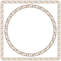 simple ornamental frames. Element for graphic design