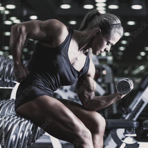 canvas print picture Woman bodybuilder