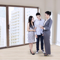 Businesswoman with young family