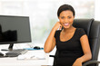 canvas print picture - african businesswoman sitting in office