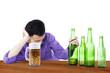 Drunk man holding beer 1