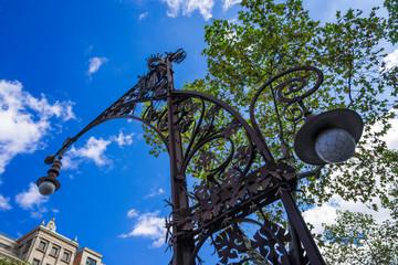 スペイン バルセロナの街灯