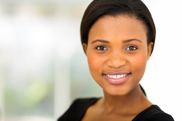 african businesswoman close up