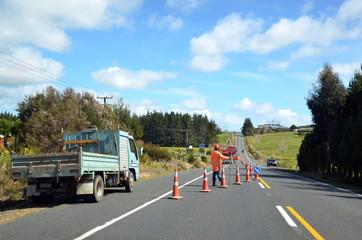 Fulton Hogan roadwork