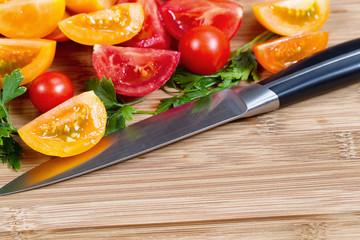 Freshly Sliced Tomatoes