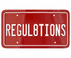 Regulations License Plate Word Auto Car Testing Safety