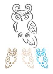 Owl tribal, art tattoo design