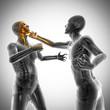 boxing men radiography scan image