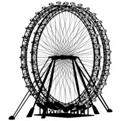 Double Carousel Silhouette Vector