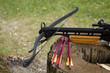 Leinwandbild Motiv Crossbow arrows on the stub