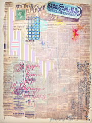 Scrapbook,graffiti and collage series
