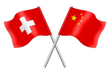 Flags: Switzerland and China