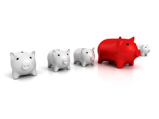 best piggy bank choice business finance concept