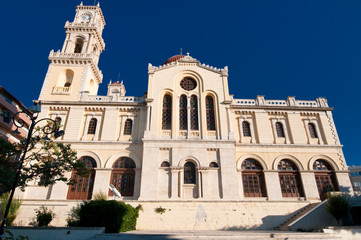 The Agios Minas Cathedral. Heraklion on Crete in Greece.