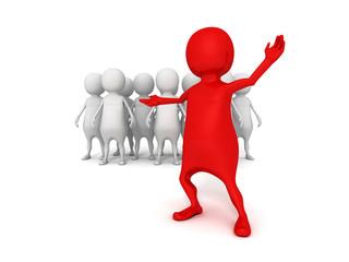 3d leader of business team group