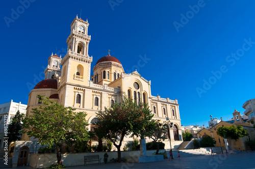 The Agios Minas Cathedral. Heraklion city on Crete, Greece.