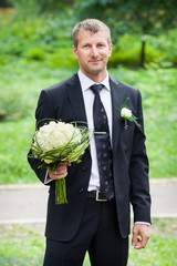 young handsome groom