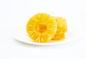 Sliced cirlce pineapple
