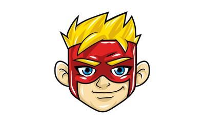 Superhero Kid Head