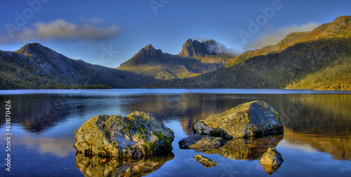 canvas print picture Cradle Mountain und Dove Lake