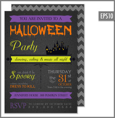 Halloween Party Invitation Black