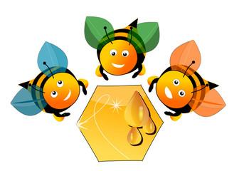 Les trois abeilles