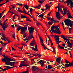 dried Chilli old retro vintage style