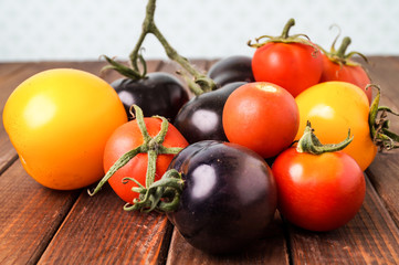 Fresh colorful tomatoes