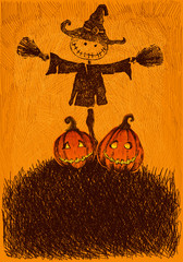 Scarecrow Pumpkin Background