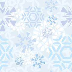 Light seamless snowflakes pattern tile
