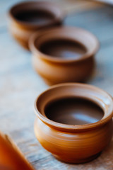 Clay craft pot dishware