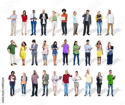 canvas print picture Business People Using Digital Devices