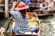canvas print picture - Floating market