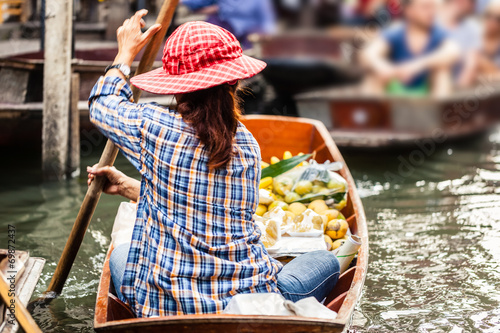 canvas print picture Floating market