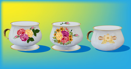 three light cups collection