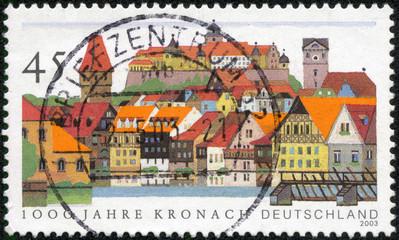 stamp printed by Germany, shows Kronach
