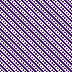 Dark Purple and White Small Polka Dots and Stripes Pattern Repea