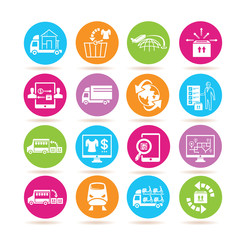 supply chain management icons