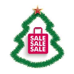 Fir Twigs Christmas Tree Shopping Bag Sale