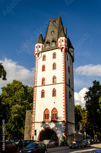 canvas print picture Holzturm in Mainz