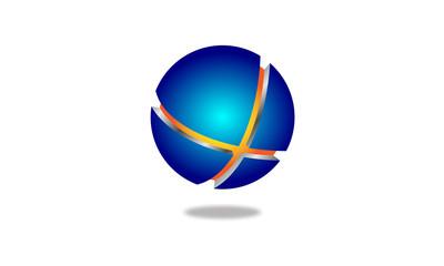 3d globe vector